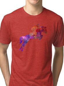 Horse show 01 in watercolor Tri-blend T-Shirt