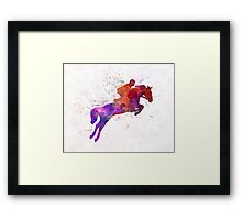 Horse show 01 in watercolor Framed Print