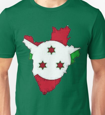 Burundi Map With Flag Unisex T-Shirt