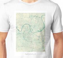 Nashville Map Blue Vintage Unisex T-Shirt