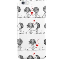 Couple in love together, valentine iPhone Case/Skin