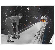 Space bowling. Poster