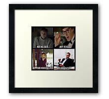 Sherlock BBC Cast Framed Print