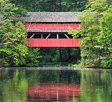 Red Bridge Reflection by Kenneth Keifer