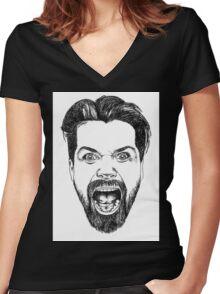 Simon Neil Illustration Women's Fitted V-Neck T-Shirt