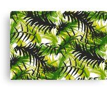 Palm Leaf Vector Pattern Canvas Print