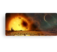 Aurora Planet Metal Print