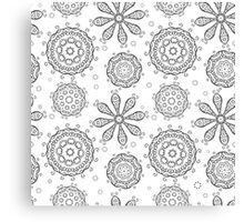 Floral seamless background Canvas Print