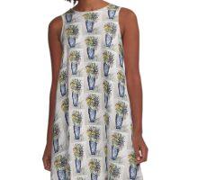 Blue Vase A-Line Dress