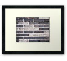 Decorative brickwork of white and black bricks Framed Print