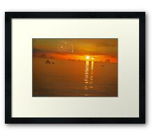 Binary Sunset Framed Print