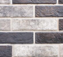 Decorative brickwork closeup of gray and black bricks Sticker