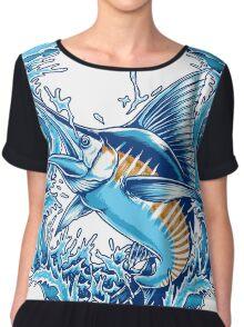 Blue Marlin Chiffon Top