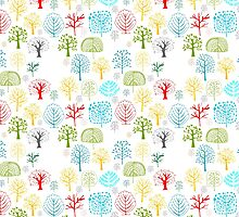 Seamless pattern with trees by Kudryashka