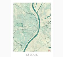 St. Louis Map Blue Vintage Unisex T-Shirt
