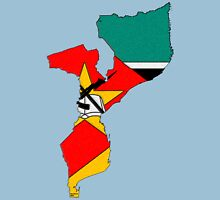 Mozambique Map With Mozambique Flag Unisex T-Shirt