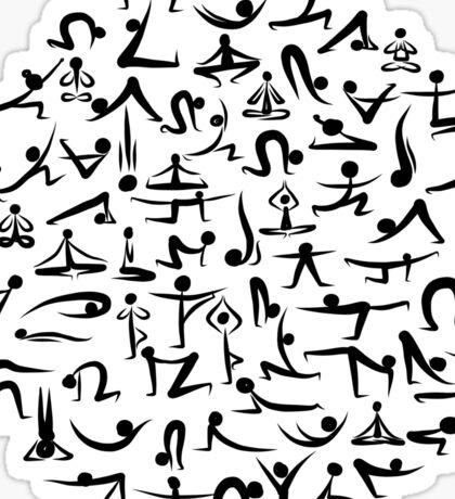 Yoga asana collection Sticker