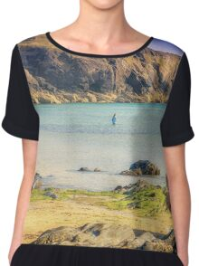 Cornwall - Mullion Cove Natural Beauty Chiffon Top