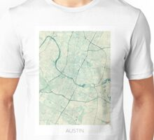 Austin Map Blue Vintage Unisex T-Shirt
