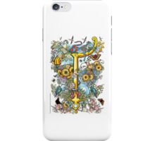 "The Illustrated Alphabet Capital  T  ""Getting personal"" iPhone Case/Skin"