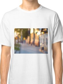 Out of focus image of streets and buildings Classic T-Shirt