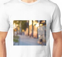 Out of focus image of streets and buildings Unisex T-Shirt