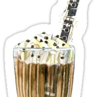 Clarinet- Musical Milkshake Sticker