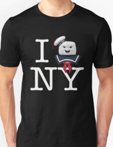 Ghostbusters - I Stay Puft NY - White on Dark Unisex T-Shirt