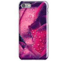 Rose with water drops. iPhone Case/Skin