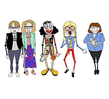 Psychoville characters inspired design Photographic Print
