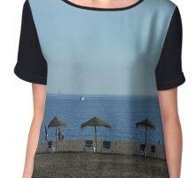 Beach, Malaga, Spain Chiffon Top