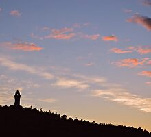 Wallace Monument Against the Evening Sky by spoilmesweetie