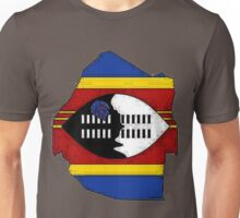 Swaziland Map With Flag Unisex T-Shirt
