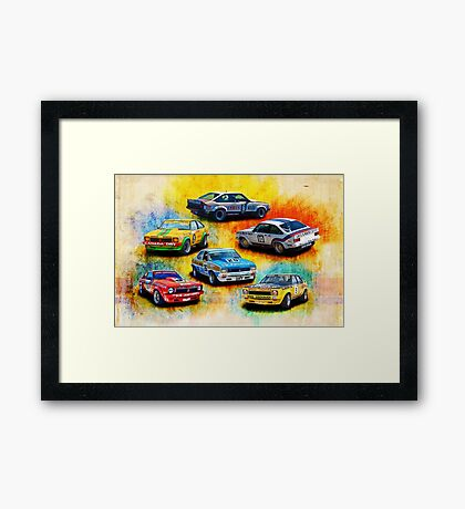 Group C Holden Toranas Framed Print