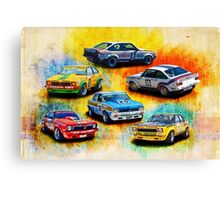 Group C Holden Toranas Canvas Print