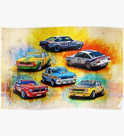 Group C Holden Toranas Poster