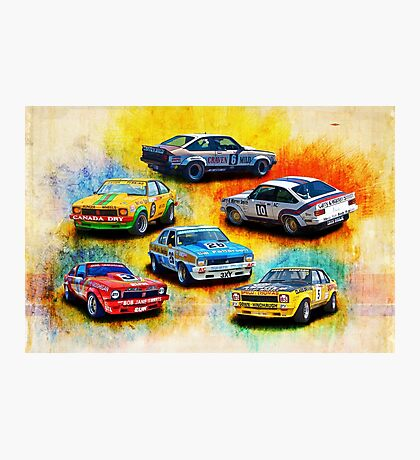 Group C Holden Toranas Photographic Print