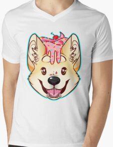 Cupcake Corgi Mens V-Neck T-Shirt