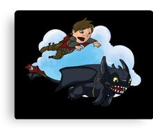 Hiccup and Toothless Canvas Print