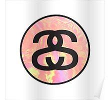 stussy tie-dye logo Poster