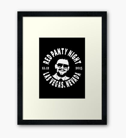 Conor Mcgregor, Red Panty Night Framed Print