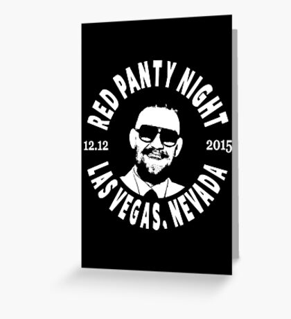 Conor Mcgregor, Red Panty Night Greeting Card
