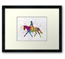 Horse show 05 in watercolor Framed Print