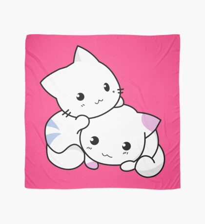 Cute Kittens Playing Scarf