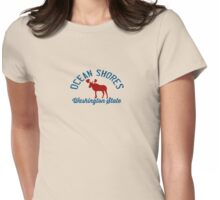Ocean Shores - Washington State. Womens Fitted T-Shirt