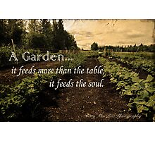 A Garden Feeds Your Soul Photographic Print