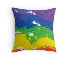 """Energetic Abstractions - """"Colour Splash"""" Throw Pillow"""