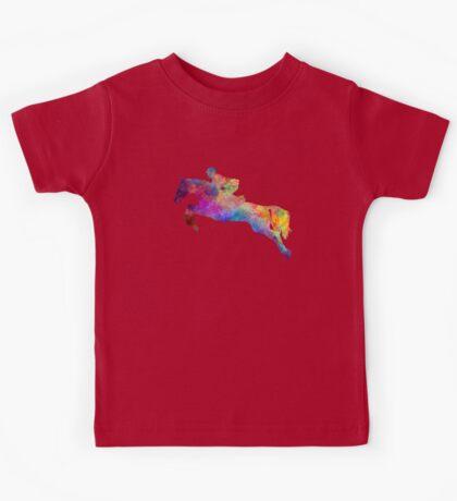 Horse show 06 in watercolor Kids Tee