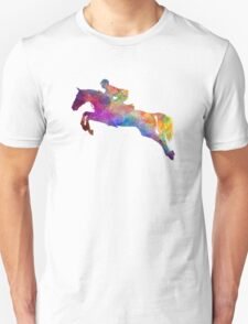 Horse show 06 in watercolor Unisex T-Shirt