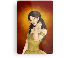 Portrait of a Perfect Noblewoman Metal Print